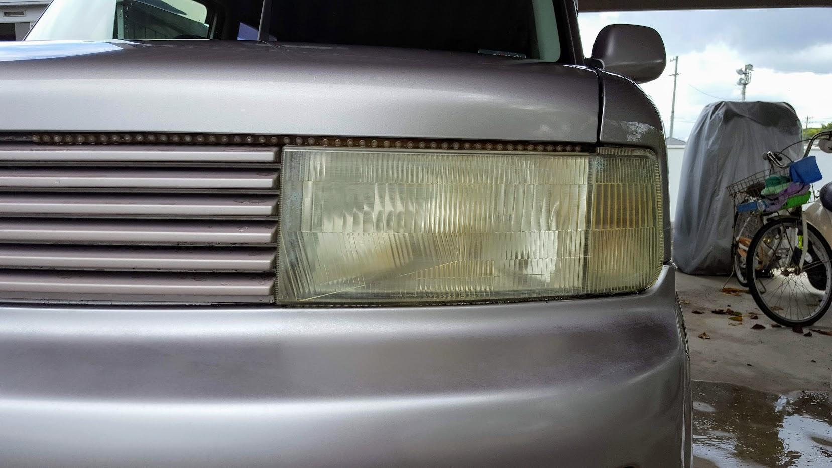 黄ばみ 車 ヘッド ライト